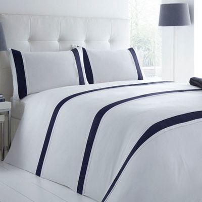 J by Jasper Conran Designer blue 'Forbury' bed linen- at Debenhams.com £28.80