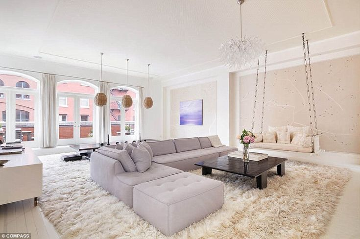 Shag chic: The couple, who divorced in 2014, first listed the3,892 sq ft loft for$14.25 million back in March 2016