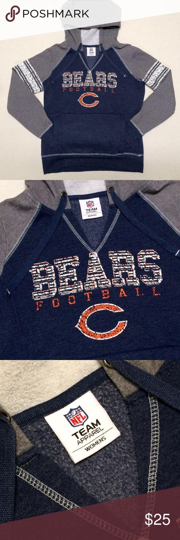 Chicago Bears - NFL Women's V-neck Hoodie  Chicago Bears  Official NFL Team Apparel   Super cute women's v-neck hoodie   Size Women's Small   Da Bears!!  NFL Tops Sweatshirts & Hoodies