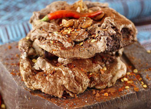 KitchenAid Stand Mixer recipe - Salty chocolate and chilli meringues