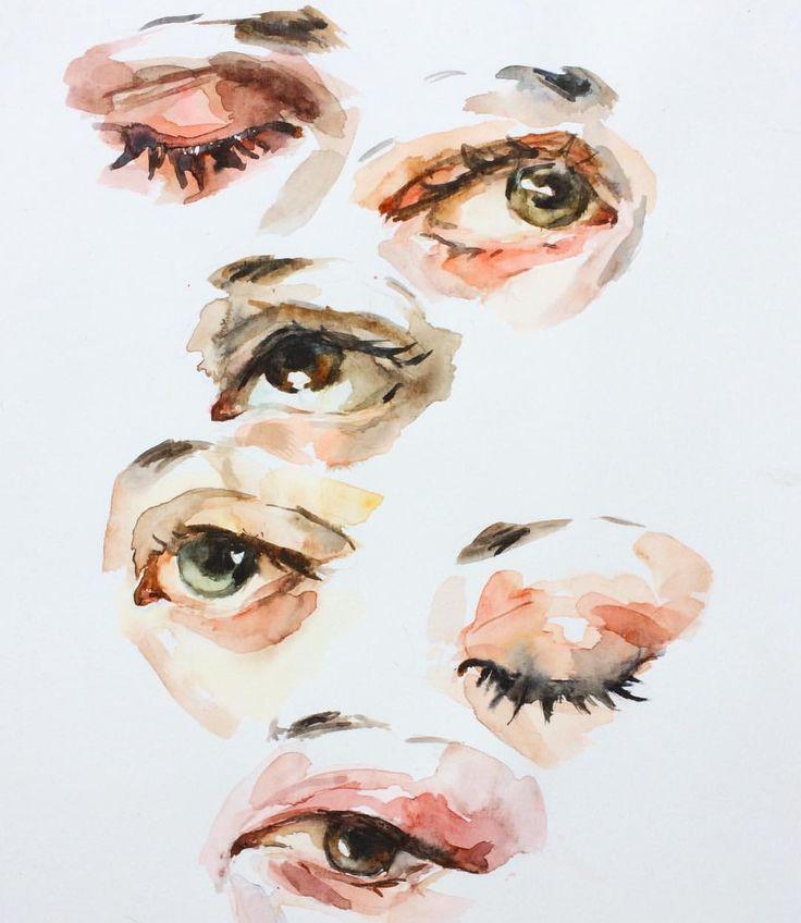 "6,557 Likes, 17 Comments - Elly Smallwood (@ellysmallwood) on Instagram: ""Little watercolour eye studies"""