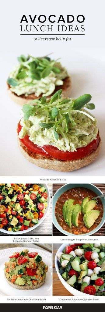 There's more to avocados than toast and guacamole! Here are 21 lunch ideas featuring the belly-fat-fighting powers of the avocado.