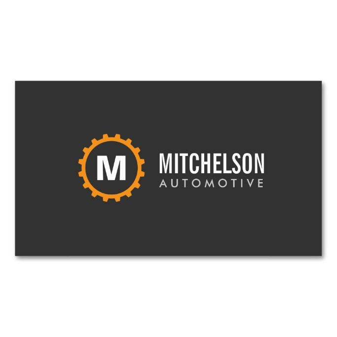 Orange Gear Initial Automotive, Repair, Mechanic Double-Sided Standard Business Cards (Pack Of 100). I love this design! It is available for customization or ready to buy as is. All you need is to add your business info to this template then place the order. It will ship within 24 hours. Just click the image to make your own!