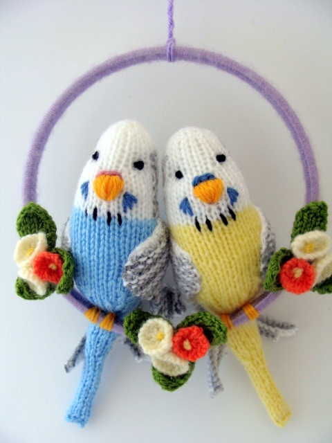 More Budgies.Pattern by Debi Birkin and available from her website.