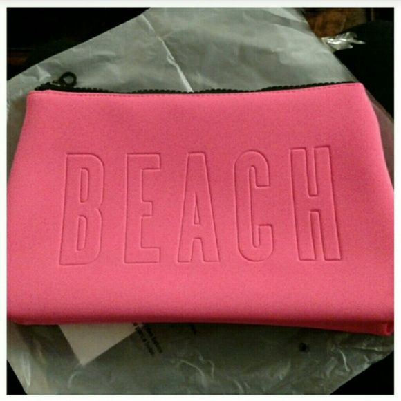VS Victoria secret beach neoprene bag make up New in original packaging. Victoria's Secret Bags Clutches & Wristlets