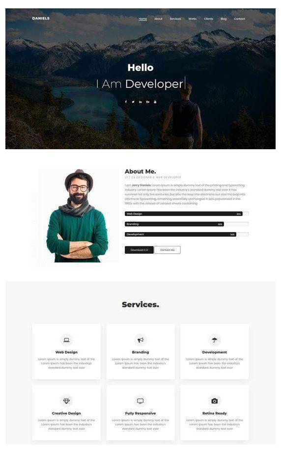 72 Best Personal Website Templates Free Premium Personal Website Template Personalw In 2021 Portfolio Website Design Portfolio Web Design Personal Website Design