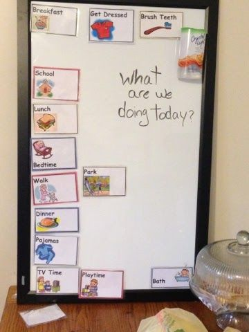 Magnetic Daily Picture Calendar for Toddlers