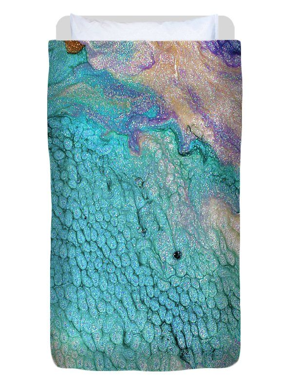 #Abstract #Painting #DuvetCover featuring the painting #Tropical Thought by #JuliaFineArt