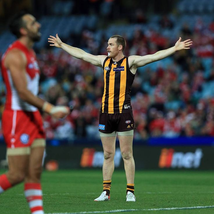 Hawks..Welcome back, Roughy as he slots 5 goals as Hawthorn thump Sydney.