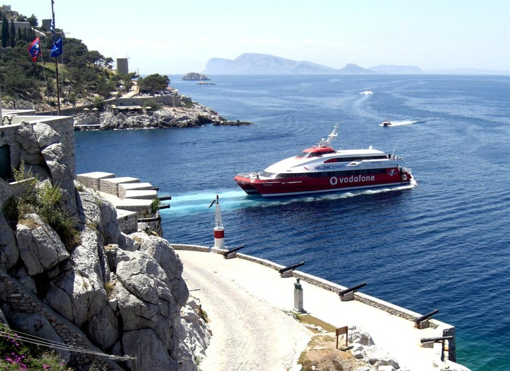 View from the balcony of Villa Castilla, Hydra Greece