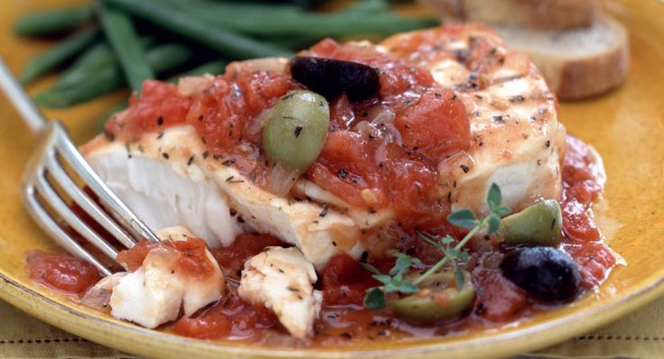Mediterranean Fish Fillets Recipe | McCormick   ~~>>This delicious healthy recipe brings the flavors of the Mediterranean to your home. Canned, diced tomatoes are a great time saver for weeknight meals.