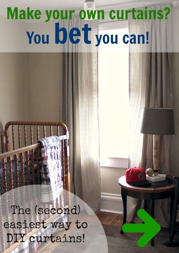 Yes you CAN make your own curtains! No matter how much of a sewing newbie you are, you can make beautiful curtains. No need to make it complicated!
