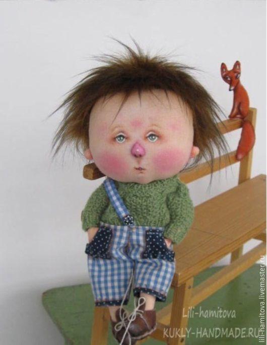 Купить Маленький принц - зеленый, текстильная кукла, интерьерная кукла, подарок, Новый Год