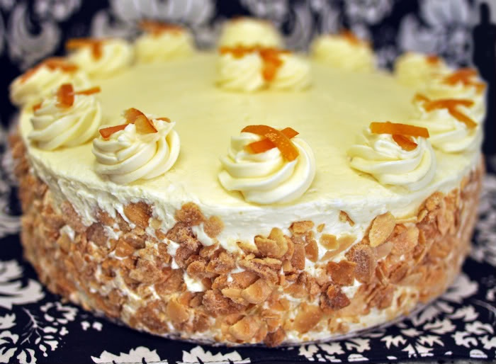 Lemon Scented White Cake With Orange Grand Marnier