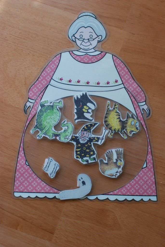 "Make your own ""Old Lady"" to use with activities to go along with the story ""There was an old lady who swallowed a bat"""