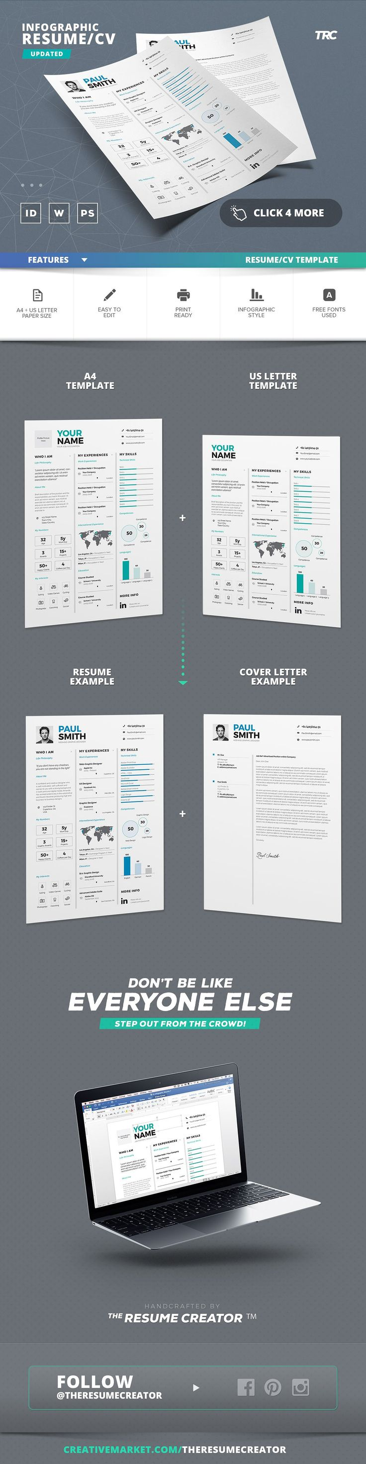 Infographic ResumeCv Template Vol7 17 best CVs