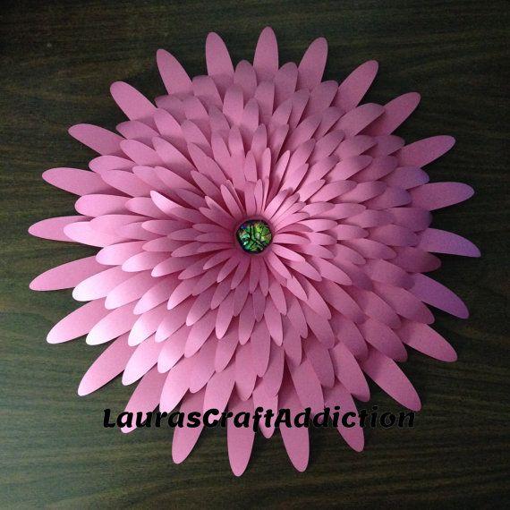 Comerciales licencia, flores de papel gigantes, cortar archivos, flores de pared gigante de pared de flores, flores gigantes, svg de flor de papel, Telón de fondo, decoración del partido