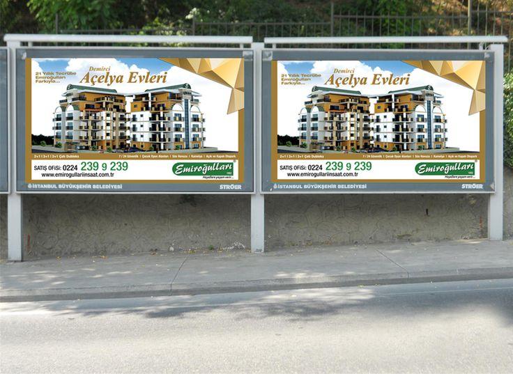 Açelya Evleri Billboard tasarımı