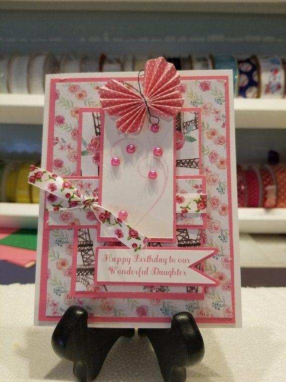 Beautifully Handmade Handcrafted Happy Birthday To Our Etsy Birthday Cards Cards Handmade Happy Birthday To Us
