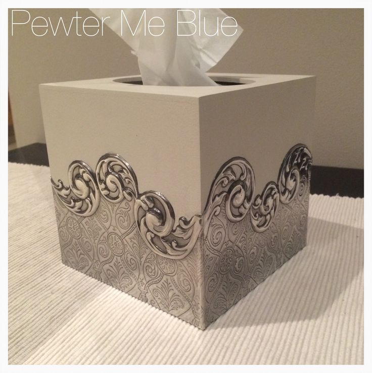 Tissue box by Yvonne at Pewter Me Blue www.fb.com/pewtermeblue