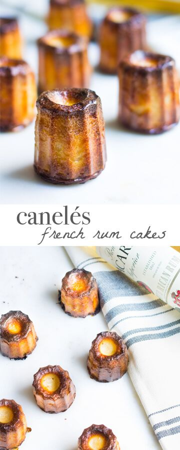 Delicious French rum cakes! Sticky on the outside and custard-y on the inside! Authentic Bordeaux recipe via MonPetitFour.com
