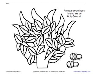 37 best images about moses and the burning bush on for Burning bush coloring page