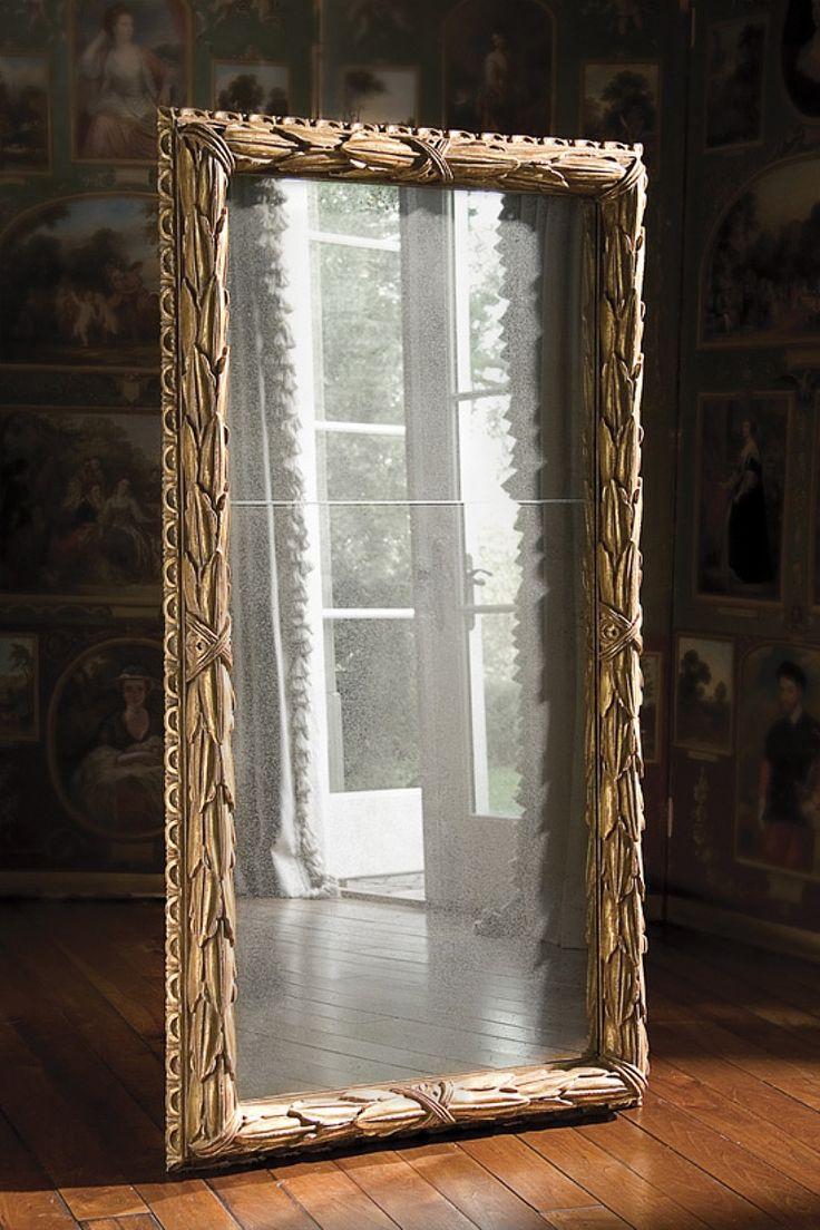 Alloro Mirror By Ebanista Mirror In Antiqued 23k Gold