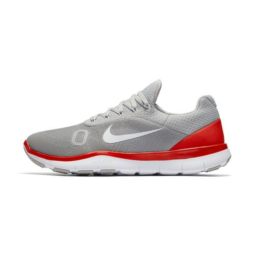 Men's Nike Gray Ohio State Buckeyes Free Trainer v7 Spring Games Collection Shoes