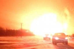 A natural gas pipeline operated by TransCanada Corp. exploded and caught fire in the Canadian province of Manitoba on Saturday, shutting off...