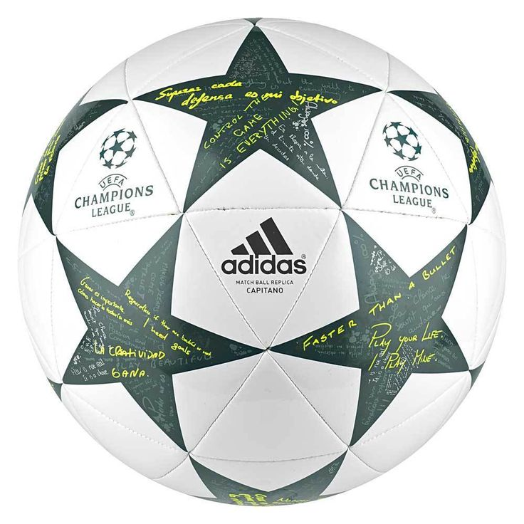 A replica of the official match ball used in European soccer balls ultimate club showdown, this soccer ball has a soft-touch, durable design and unique graphic stars. Machine-stitched for rugged durability, the ball features a soft touch for accurate flight and a butyl bladder for consistent inflation pressure.