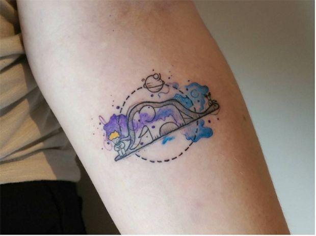 #tattoofriday - Baris Yesilbas e suas tatuagens aquareladas cheias de cor;