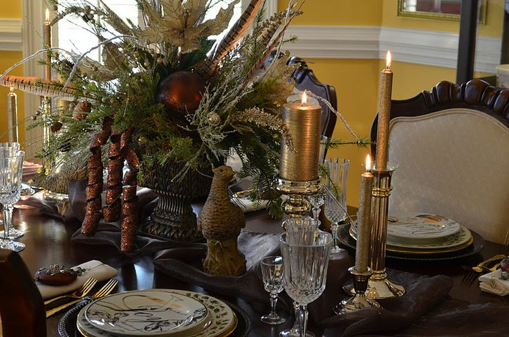 lenox eternal table ideas | The plates are a mixture of vintage salad plates.