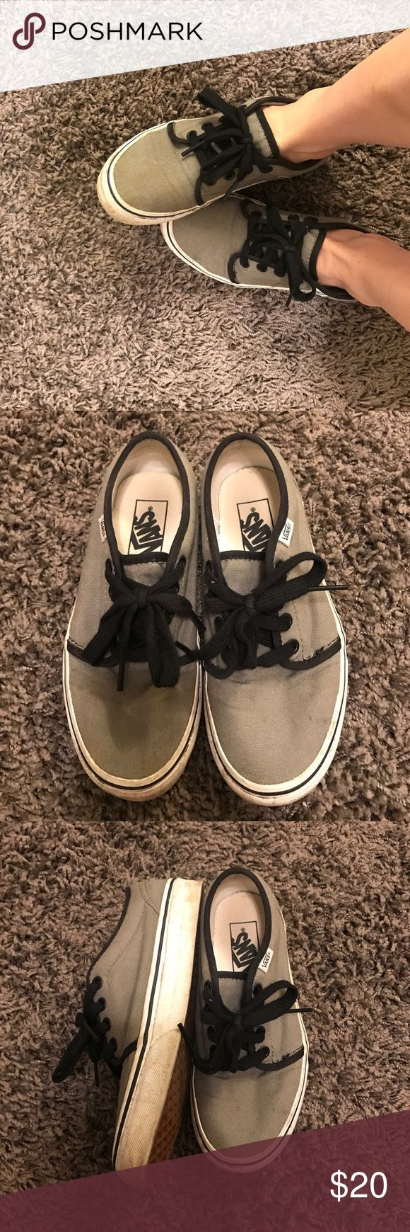 Vans - 106 vulcanized Used! But in good condition. The rubber is a little dirty but can be washed off. The bottoms heel is not worn at all. Worn a couple of times. MENS 4/ WOMENS 5.5 Vans Shoes Sneakers