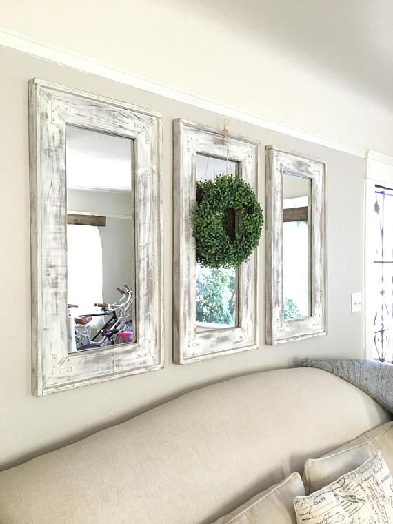 Set of 3 mirrors wreath not included PICK UP For San