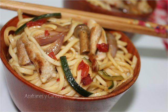 Noodles con pollo y 5 especias chinas   Azafranes y Canelas