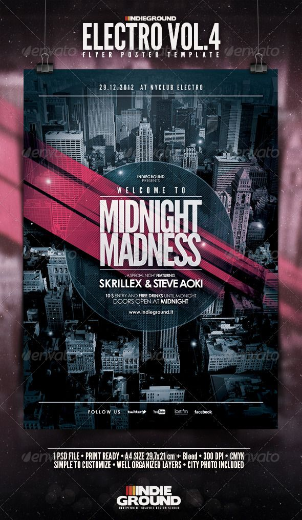 26 best Music Flyers images on Pinterest Music flyer, Flyers and - electro flyer