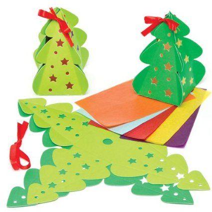 Kits de Lanternes Sapin de Noël que les Enfants pourront Confectionner (Lot de 4)