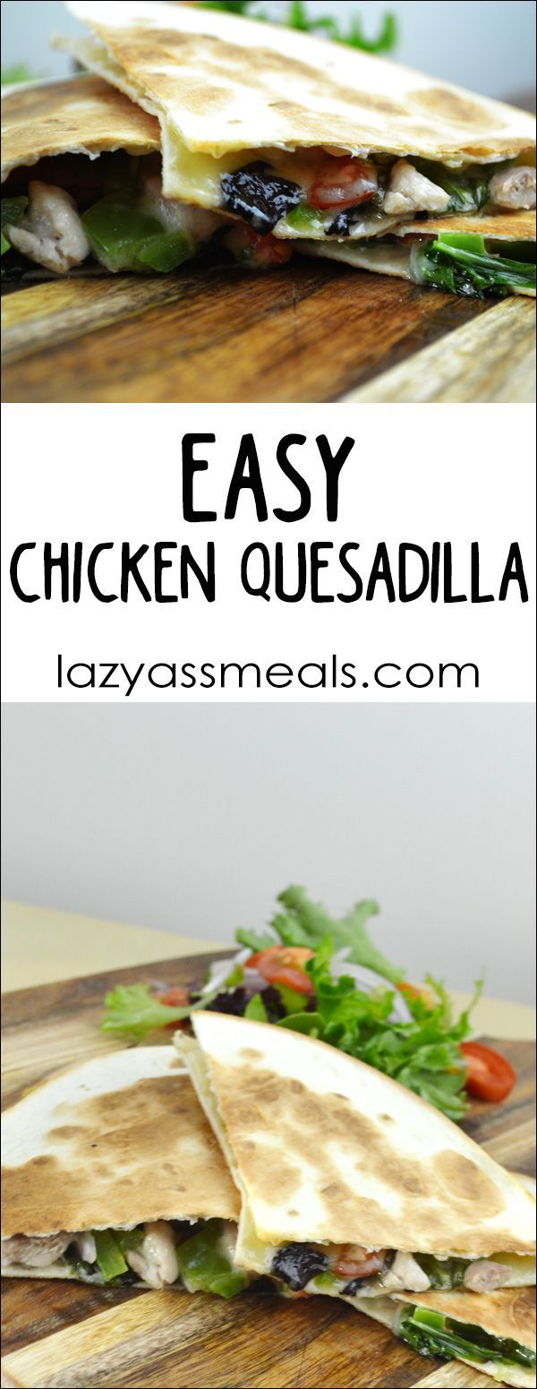 Delicious chicken quesadillas that make for a fantastic lunch!