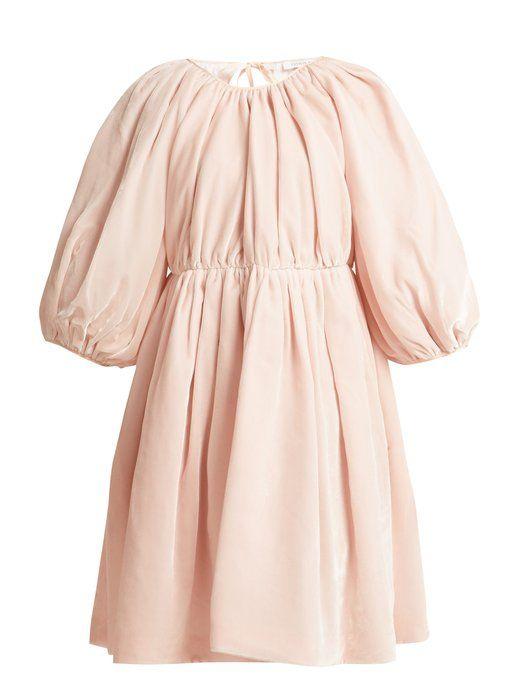 5ecba12b95de Cecilie Bahnsen - Ava Mini Dress  Pale Pink Velvet