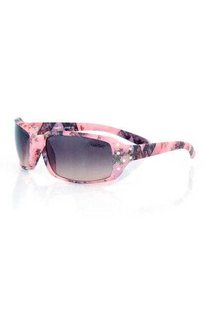 Women's Country Girl® Pink Camo Sunglasses with Rhinestones