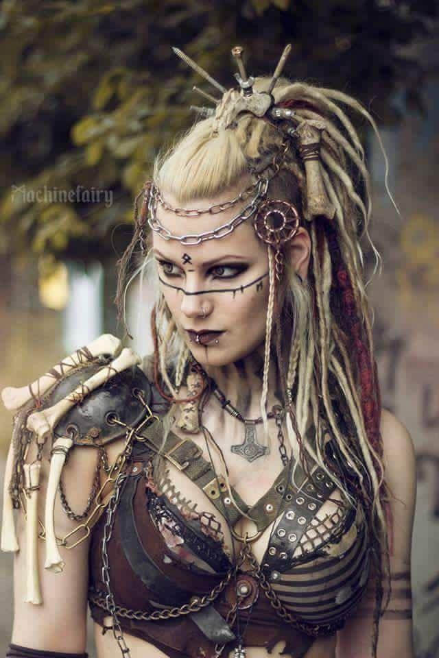 Viking Dreads. Complete and utter goals! https://www.facebook.com/Machinefairyofficial/. I love this. Voodoo.