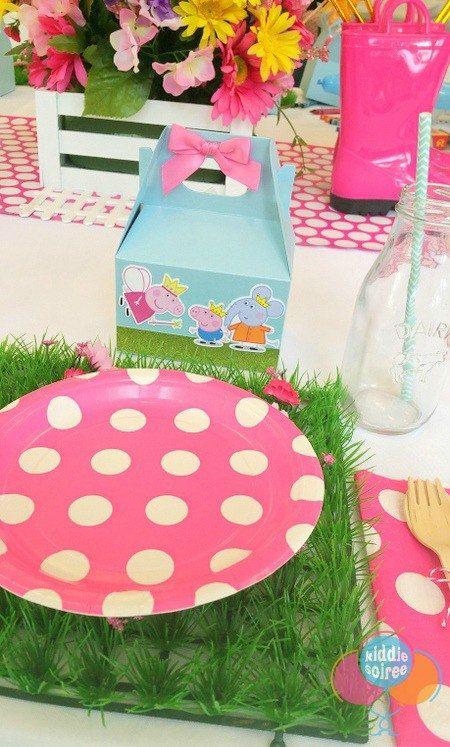 Peppa Pig Favor cajas bolsas de caramelo la por PishPoshPartique