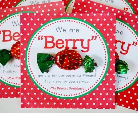 """LDS Primary Teacher """"Berry"""" Thank You FREE Printable!"""