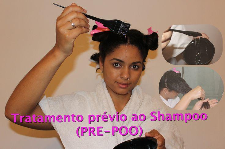 Tratamento prévio ao shampoo. Pre-poo. Pre-shampoo treatment. Umetação. Cabelo desfrisado