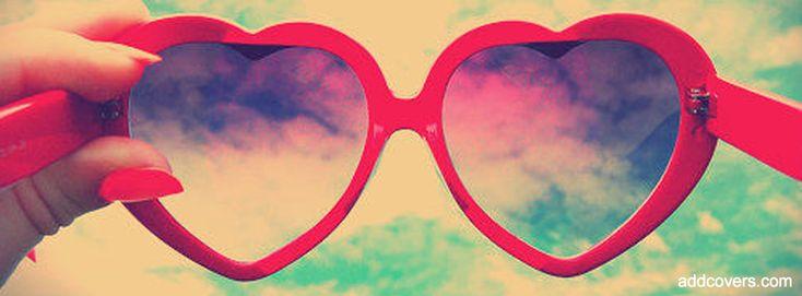 Heart Glasses {Girly Facebook Timeline Cover Picture, Girly Facebook Timeline image free, Girly Facebook Timeline Banner}