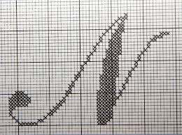 Bilderesultat for brodering mønster bokstaver
