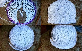 four triangles loom knit hat