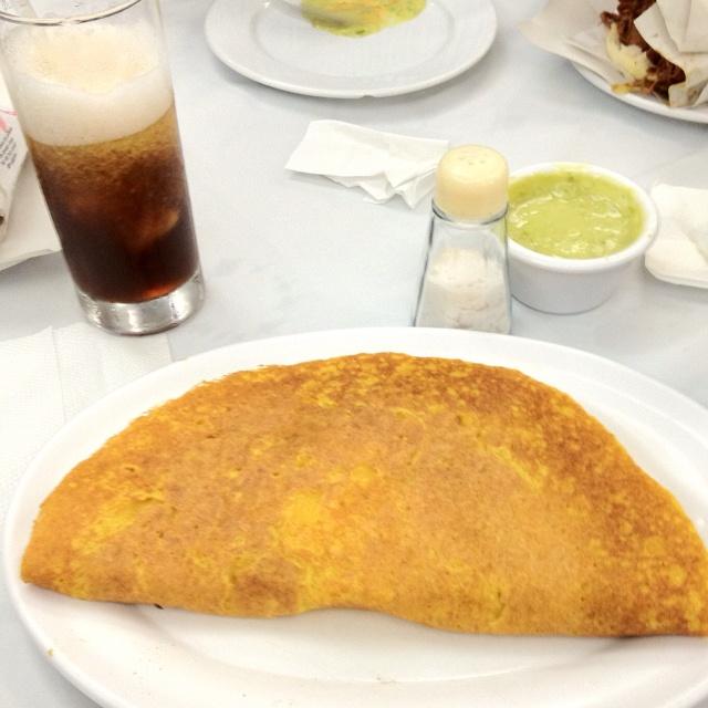 Cachapa con queso de mano en Caracas