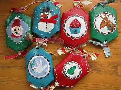 Manualidades con material reciclable para niños : cosascositasycosotasconmesh: Christmas Parties, Christmas Time, Buena Ideas, Crafts Ideas, Paper Rolls Crafts, Ideas Para, Christmas, Christmas Trees, Rolls Ornaments