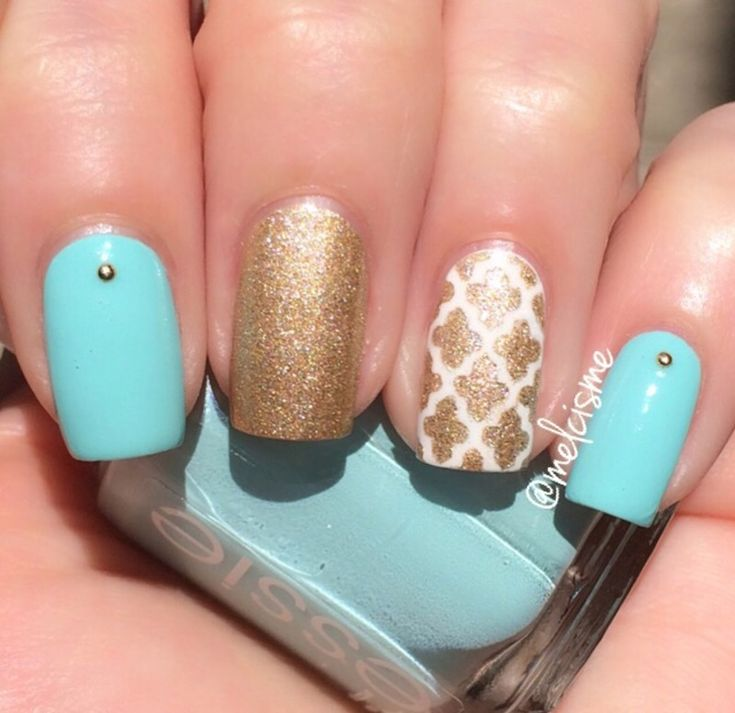 Moroccan Accent nail art by Melissa